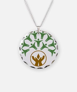 people around hands chalice Necklace