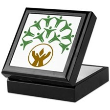 people around hands chalice Keepsake Box