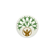 people around hands chalice Mini Button