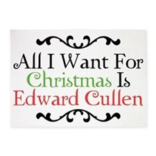 All I Want For Christmas Is Edward  5'x7'Area Rug