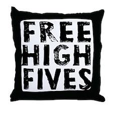 HIGH FIVE BLK Throw Pillow
