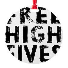 HIGH FIVE BLK Ornament