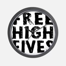 HIGH FIVE BLK Wall Clock
