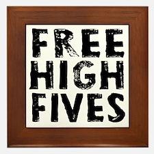 HIGH FIVE BLK Framed Tile