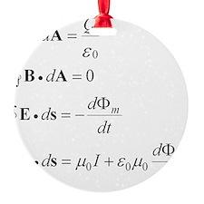maxwells equation Ornament