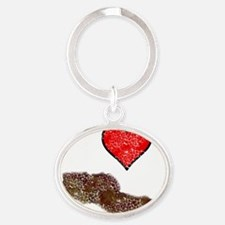 i love bacon Oval Keychain