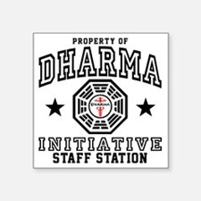 "Dharma Staff St Plain Square Sticker 3"" x 3"""