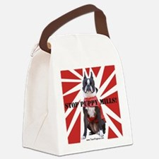10x10_StopPuppyMill Canvas Lunch Bag
