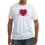 I Love Mom! Fitted T-Shirt