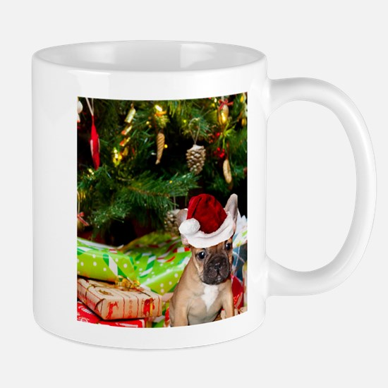 christmas French bulldog 4 Mugs