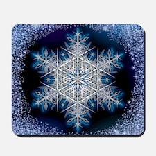 Snowflake Calendar - June - square Mousepad