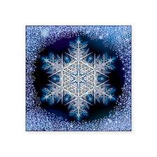 "Snowflake Calendar - June - Square Sticker 3"" x 3"""
