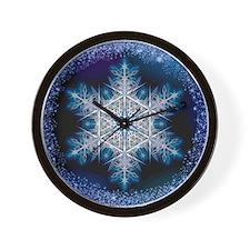 Snowflake Calendar - June - square Wall Clock