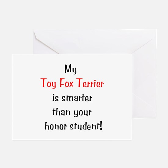 My Toy Fox Terrier is smarter... Greeting Cards (P