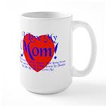 I Love Mom! Large Mug