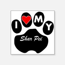 I Heart My Shar Pei Sticker