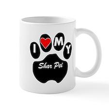I Heart My Shar Pei Mugs