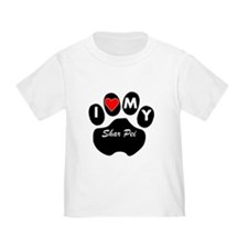 I Heart My Shar Pei T-Shirt