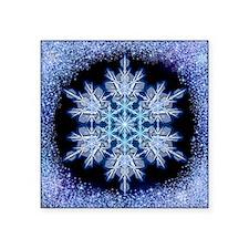 "Snowflake Calendar - July - Square Sticker 3"" x 3"""