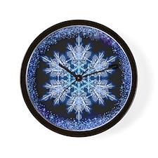Snowflake Calendar - July - square Wall Clock
