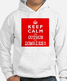 KEEP CALM but OUTRUN the ZOMBIES wr - Jumper Hoody