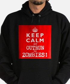 KEEP CALM but OUTRUN the ZOMBIES wr - Hoodie