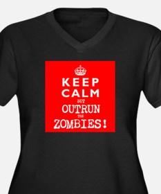 KEEP CALM but OUTRUN the ZOMBIES wr - Women's Plus