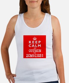 KEEP CALM but OUTRUN the ZOMBIES wr - Women's Tank
