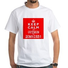 KEEP CALM but OUTRUN the ZOMBIES wr - Shirt