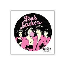 "Pink Ladies Square Sticker 3"" x 3"""