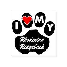 I Heart My Rhodesian Ridgeback Sticker