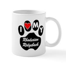 I Heart My Rhodesian Ridgeback Mugs
