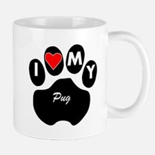 I Heart My Pug Mugs