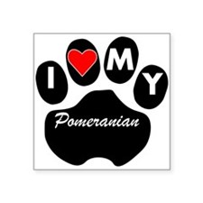 I Heart My Pomeranian Sticker