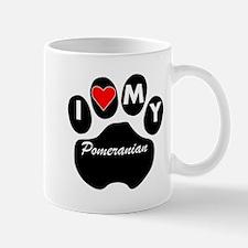 I Heart My Pomeranian Mugs