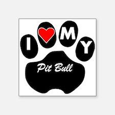 I Heart My Pit Bull Sticker