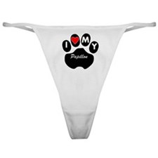 I Heart My Papillon Classic Thong