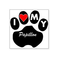 I Heart My Papillon Sticker