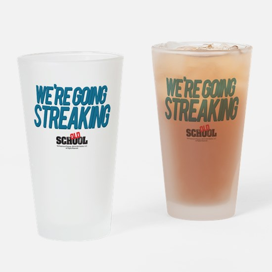 We're Going Streaking Drinking Glass