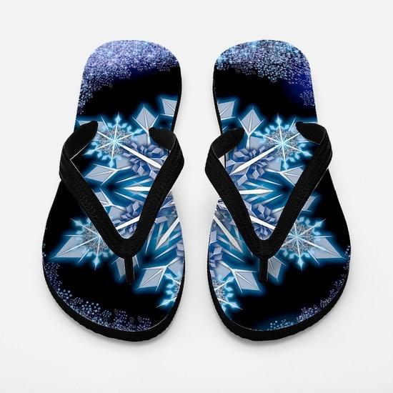 September Snowflake - square Flip Flops