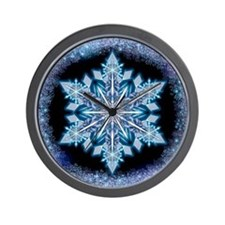 September Snowflake - square Wall Clock