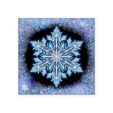 "September Snowflake - squar Square Sticker 3"" x 3"""