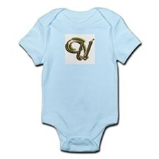 Phyllis Initial U Infant Creeper