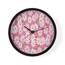 Preppy_Daisy2 Wall Clock