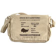 Thanksgiving meets Hanukkah - Thanks Messenger Bag