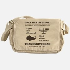 Thanksgiving meets Hanukkah - Thanks Messenger Bag