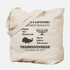 Thanksgiving meets Hanukkah - Thanksgivuk Tote Bag