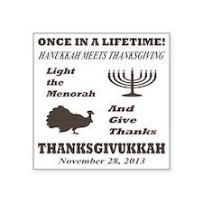 "Thanksgiving meets Hanukkah Square Sticker 3"" x 3"""
