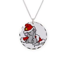 mousestocking Necklace Circle Charm
