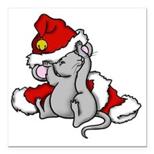 "mousestocking Square Car Magnet 3"" x 3"""